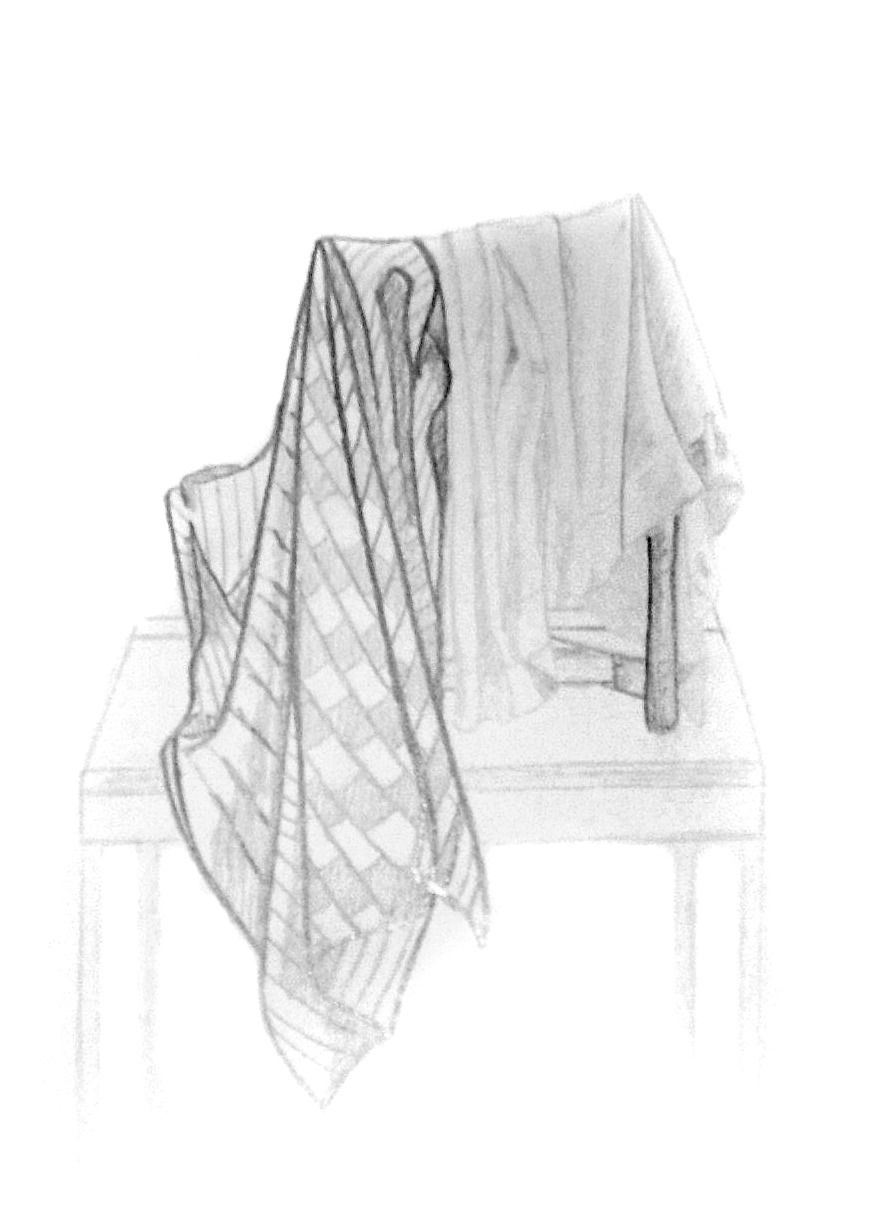 still life with blankets